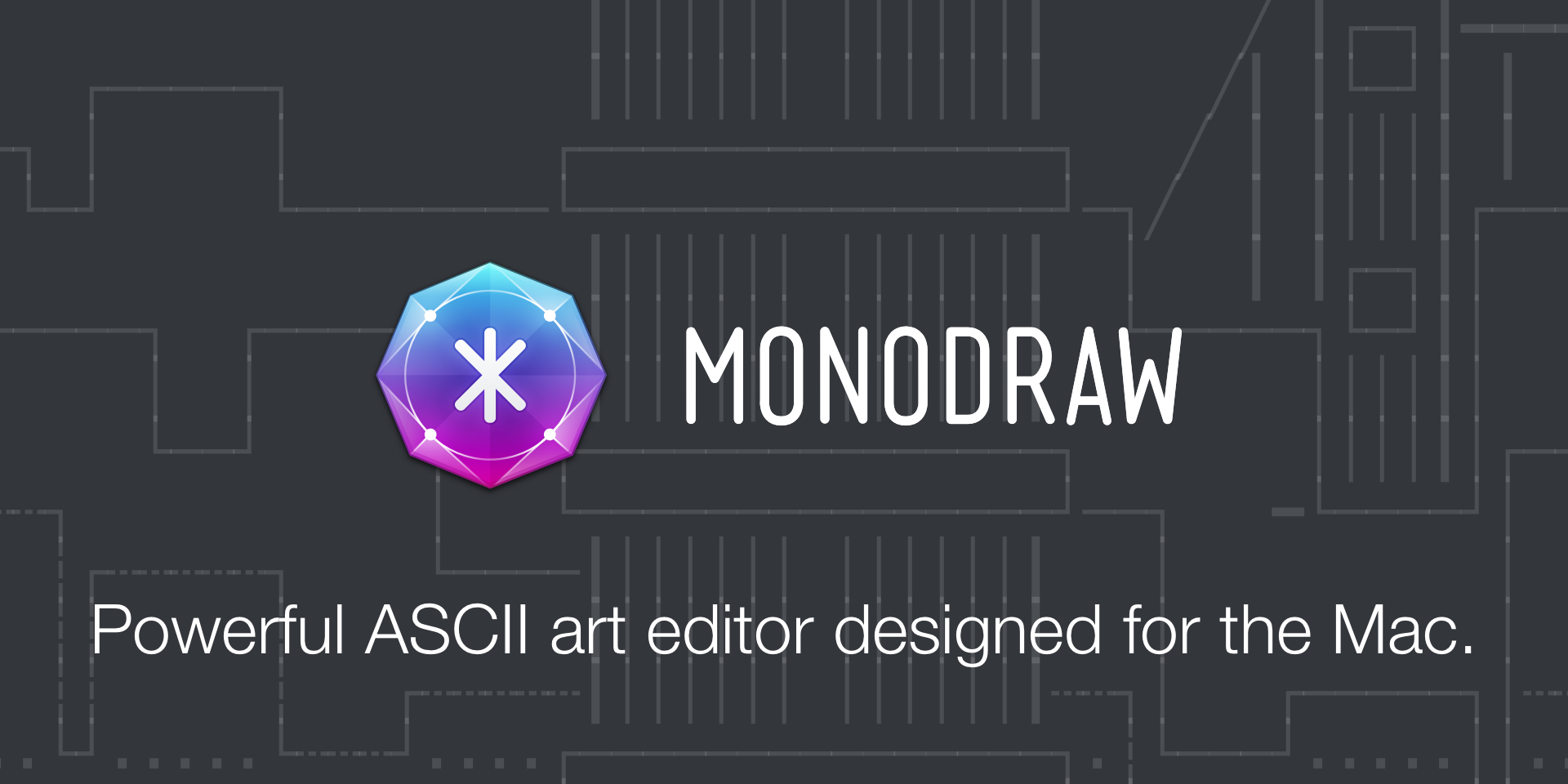 Powerful ASCII art editor designed for the Mac.